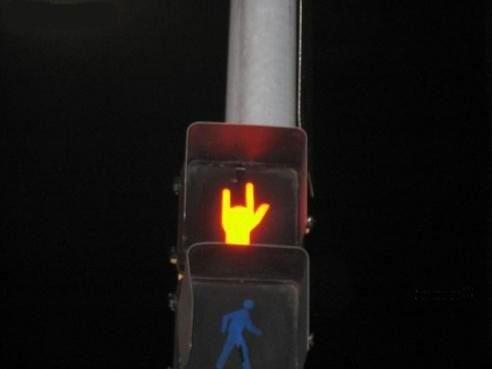 Un semaforo roquero