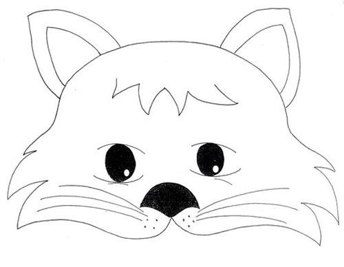 Moldes de máscaras de gato - Imagui