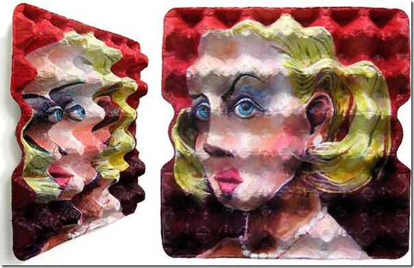 pinturas en cajas de huevos migallinero (1)