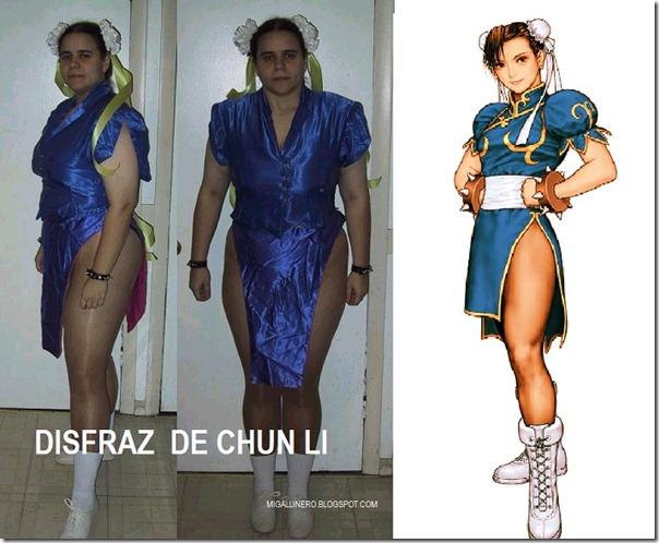 chun-li DISFRAZ MIGALLINERO