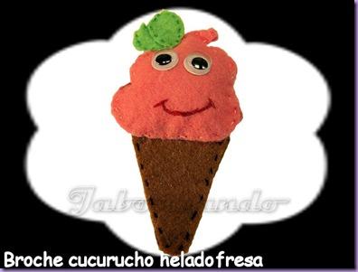 broche cucurucho helado fresa