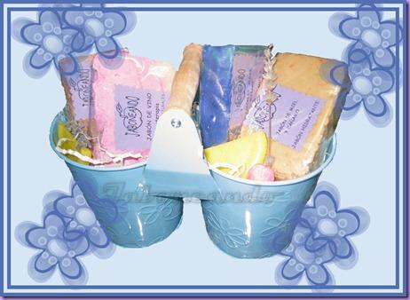 cesta con maceteros