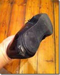 warn out shoe