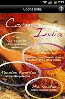 Screenshot of iCocinar Cocina India