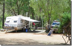 Nannup Caravan Park, on the banks of the Blackwood River, Western Australia