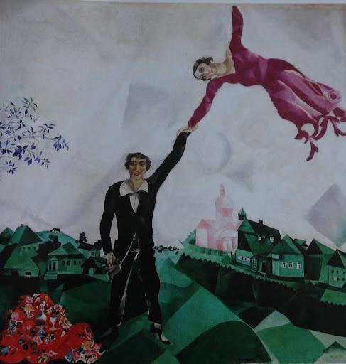 Marc Chagall Famous Paintings La promenade (1600x1523pix Chagall Crucifixion