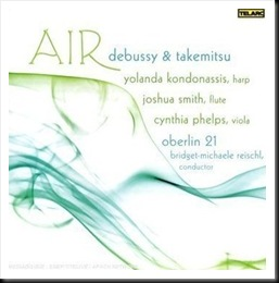 AIR: Music for Harp, Flute, Viola, & Strings by Debussy & Takemitsu