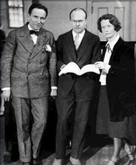 Edward Johnson, Deems Taylor, and Edna St. Vincent Millay at the time of the premiere of THE KING'S HENCHMAN