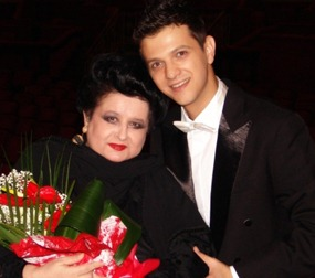 Bogdan Mihai with celebrated soprano Mariana Nicolesco