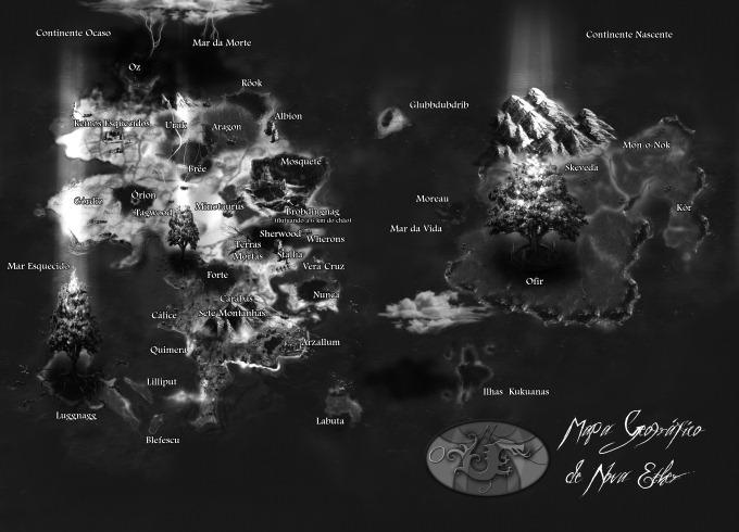 Dragoes de Eter Mapa de Nova Ether - Fantasia BR