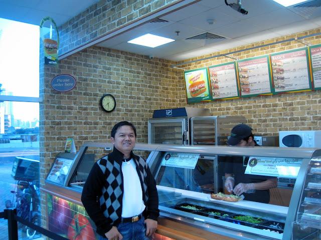 Restoran cepat saji SUBWAY di Tecom Area Dubai