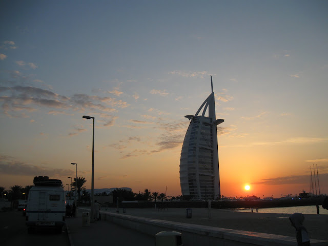 Burj Al Arab and sunset