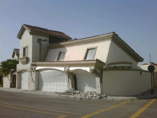 residencia destruida
