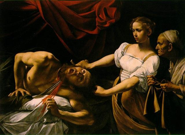 Caravaggio, Giuditta e Oloferne, 1599