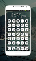 Screenshot of Pasty - Simple White Icon Pack
