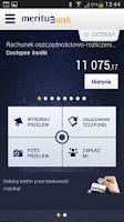 Screenshot of Meritum Bank Mobilny