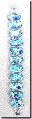 blue dichoric double strand bracelet