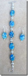 blue jasper bracelet and earrings