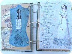 journal back dress form double spread all that I am