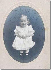 cabinet card baby girl