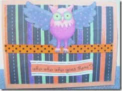 halloween popup card front