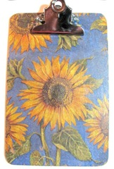 clipboard sunflowers