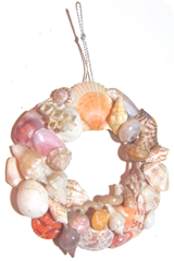 Seashell wreath ornament