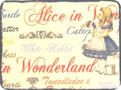 Alice in Wonderland fabric pc front