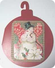 snowman ornament card