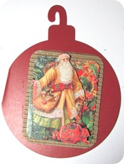 santa ornament card