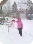 Lilys snowman 1.2011