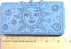 sun rubber stamp front