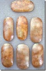 polished stone bone beads