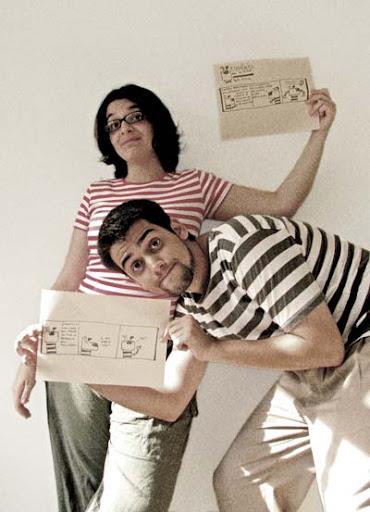 Carol e Luiz, criadores do Eugênio vai à feira