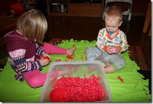 2011-02-07 Valentine&#39;s Sensory Bin (1)