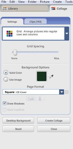 grid menu