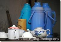 Hot Water Pot and the Tea Set