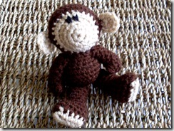 Moncton Monkey (handmade, yarn, plush crocheted doll)