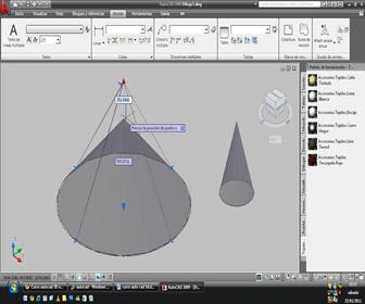 cono sólido con base circular autocad 3d