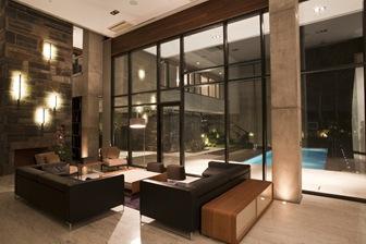 Villa kiani con fachadas de estilo minimalista arquitexs for Decoracion casas minimalistas interiores