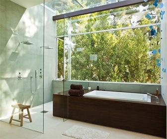 Fachadas de cristal y acero por estudio assembledge for Banos de casas de lujo