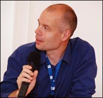 Rene Voorburg tijdens de IIPC bijeenkomst vorige week in Wenen