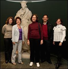 De Braziliaanse delegatie, met in het midden de Rijksarchivaris van Brazilie, mw Claudia Lacombe Rocha; foto KB, Jos Uljee