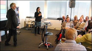 De parallelsessie Actieve openbaarheid, met Theo Thomassen en Groen Links kamerlid Mariko Peters