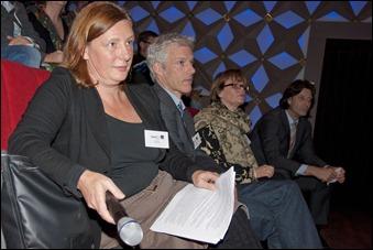 vlnr Gaby Wijers (NIMk), Harry Romijn (AVA_net), Annemieke de Jong (BenG, projectleider Kennisbank) en Jan Müller (Beeld en Geluid)
