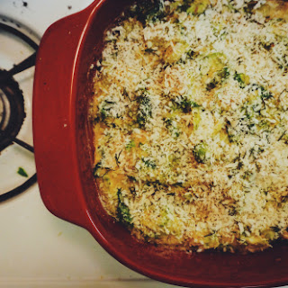 Caramelized Brussels Sprout Gratin