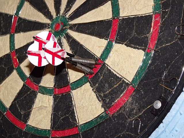 Three darts in T2