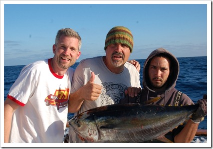 Russ and Jon with deck hand and jackpot fish.  I won....