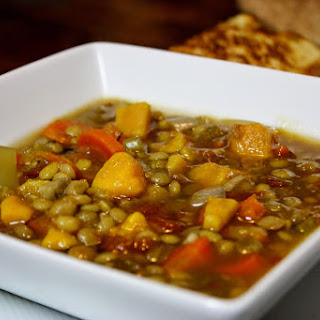 Slow Cooker Sweet Potato Lentil Soup