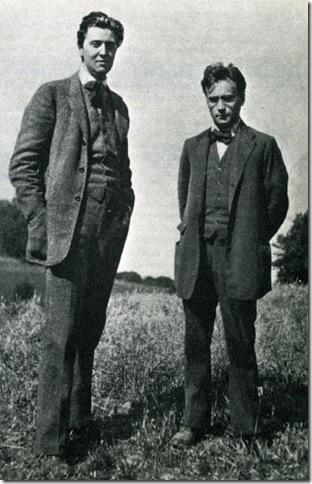 Alban Berg (1885-1935) y Anton con Webern (1883-1945) cerca de Viena en 1912